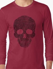Fingerprint Skull Long Sleeve T-Shirt