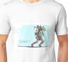 It's dangerous to go alone! Take this. Unisex T-Shirt
