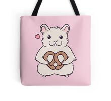 I love you more than this hamster loves pretzels Tote Bag