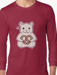 I love you more than this hamster loves pretzels Long Sleeve T-Shirt