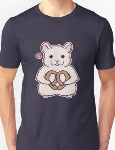 I love you more than this hamster loves pretzels Unisex T-Shirt