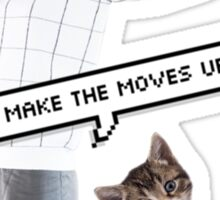 Kitty moves Sticker