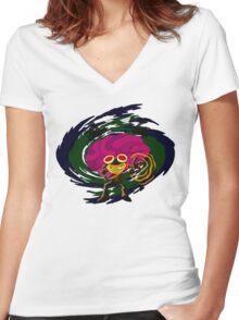 Brain Power Women's Fitted V-Neck T-Shirt