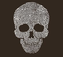 Fingerprint Skull White  Unisex T-Shirt