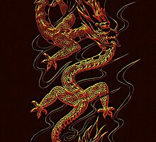 Asian Dragon fantasy design by Val  Brackenridge