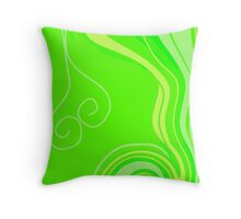 Neon Citrus with a Twist Throw Pillow