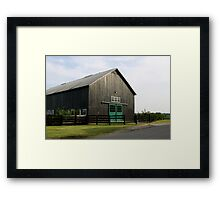 Black Stable Framed Print