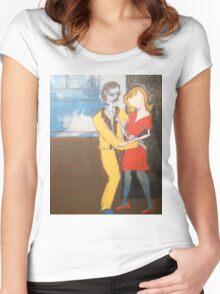 Beatnick scene Women's Fitted Scoop T-Shirt