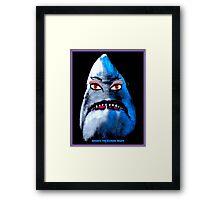 """BEWARE THE FEMALE SHARK"" Fun Art Print Framed Print"