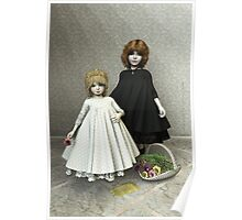 Portrait of two little girls Poster