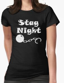 Ball And Chain Stag Womens Fitted T-Shirt