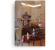 Paris shoe boutique. Canvas Print