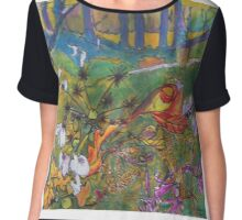 Autumn in the woods tote bag 2950x2950 Chiffon Top