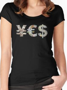 EURO - YES (Fuck Cancer) Women's Fitted Scoop T-Shirt
