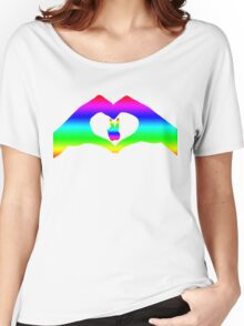 Love & Pease LGBT Rainbow  Women's Relaxed Fit T-Shirt