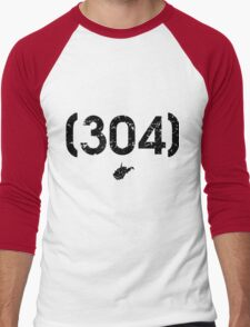 Area Code 304 West Virginia Men's Baseball ¾ T-Shirt