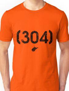 Area Code 304 West Virginia Unisex T-Shirt