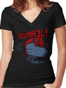 SQUIRREL!  Women's Fitted V-Neck T-Shirt