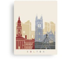 Bolton skyline poster Canvas Print