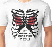 My Hearts Beat For You - Black Unisex T-Shirt