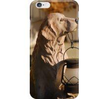 Dog Holding Lamp iPhone Case/Skin
