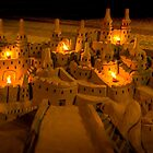 Sandcastle with bonfires by Ralph Goldsmith
