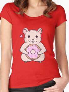 Donut Hamster Women's Fitted Scoop T-Shirt