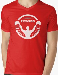 Body Builder Fitness Mens V-Neck T-Shirt
