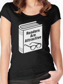 Book Readers Are Attractive Women's Fitted Scoop T-Shirt