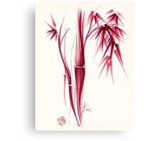 Inspiration - Sumie ink brush zen bamboo painting Canvas Print