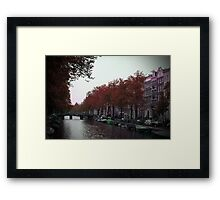 Canal View of Amsterdam Framed Print