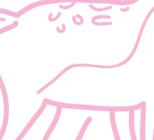 Pink Deer Sketch Sticker
