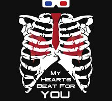 My Hearts Beat For You - 10th Dr Womens Fitted T-Shirt