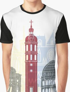 Lyon skyline poster Graphic T-Shirt