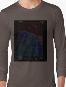 USGS TOPO Map Alaska AK Seward D-8 NE 353807 1993 25000 Inverted Long Sleeve T-Shirt