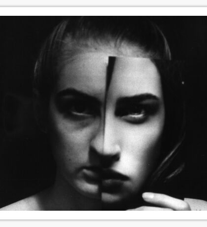 Vanity- Black and White Sticker