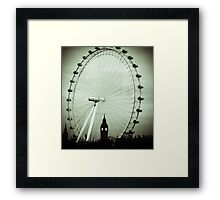 London Eye and Big Ben Framed Print