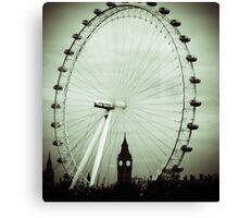 London Eye and Big Ben Canvas Print