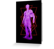 Florescent Fighter Greeting Card
