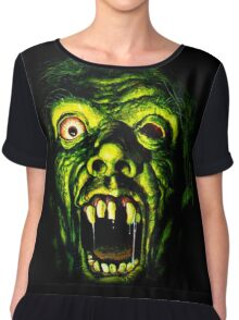 Horror Hotel Zombie - For Black Only Chiffon Top