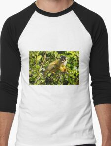 black-capped squirrel monkey (Saimiri boliviensis)  Men's Baseball ¾ T-Shirt