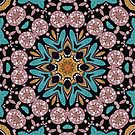 Teal Pink Geo Mandala by webgrrl