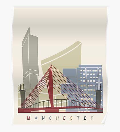 Manchester skyline poster Poster