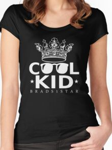 Crowned Cool Kid Women's Fitted Scoop T-Shirt