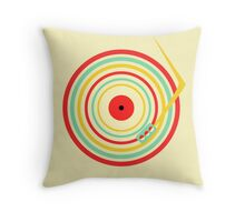 Record Rings Throw Pillow