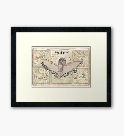 Twinkle, Twinkle, Celestial Bat Framed Print