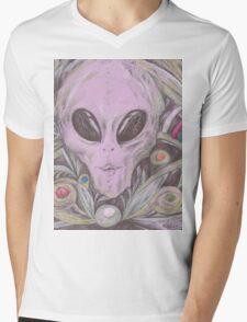 alien, pen on paper Mens V-Neck T-Shirt