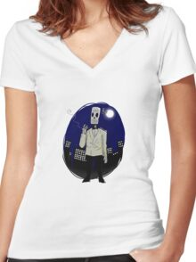 Manuel Calavera Women's Fitted V-Neck T-Shirt