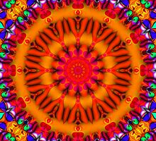 Psychedelic Happy Hippie Mandala by webgrrl