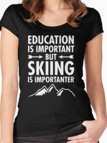 Education Is Important Women's Fitted Scoop T-Shirt